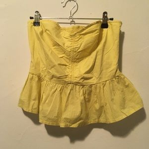 NWT Anthropologie Yellow Strapless Top 6